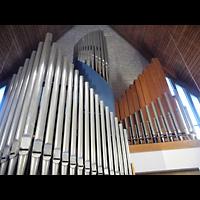 Berlin - Charlottenburg, Ev. Kirche Alt-Lietzow (Dorfkirche Lietzow), Orgel perspektivisch