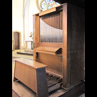 Berlin - Treptow, Ev. Kirche Altglienicke (Hauptorgel), Chororgel seitlich