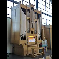 Berlin - Zehlendorf, Ev. Kirche Schönow-Buschgraben, Orgel seitlich