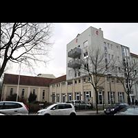 Berlin - Köpenick, Evangelisch-methodistische Friedenskirche Oberschöneweide, Außenansicht der Kirche