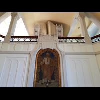 Berlin - Pankow, Gemeindehaus Nordend (Positiv), Altarbild und Orgel