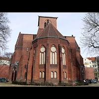 Berlin - Neukölln, Genezareth-Kirche, Außenansicht, Chorseite