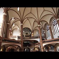 Berlin (Prenzlauer Berg), Gethsemane-Kirche (Positiv), Innenraum in Richtung Orgel