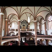 Berlin (Prenzlauer Berg), Gethsemane-Kirche (Positiv), Blick von der Seitenempore auf die Orgel