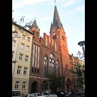 Berlin - Mitte, Golgathakirche (Hauptorgel), Außenansicht der Kirche
