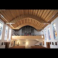 Berlin - Charlottenburg, Heilig-Geist-Kirche (Westend), Innenraum in Richtung Orgel
