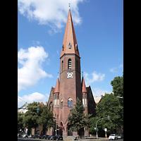 Berlin (Tiergarten), Heilig-Geist-Kirche Moabit, Außenansicht der Kirche