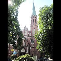 Berlin (Reinickendorf), Herz-Jesu-Kirche Tegel, Außenansicht mit Turm