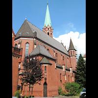 Berlin (Reinickendorf), Herz-Jesu-Kirche Tegel, Außenansicht der Kirche