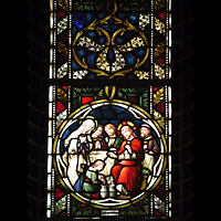 Berlin (Zehlendorf), Herz-Jesu-Kirche, Buntes Glasfenster