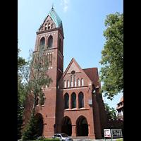 Berlin (Zehlendorf), Herz-Jesu-Kirche, Außenansicht der Kirche