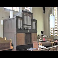 Berlin - Pankow, Katharinenstift, Mater Dolorosa (ehem. St. Gertrud), Orgel seitlich