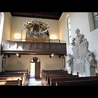 Berlin - Zehlendorf, Kirchen am Stölpchensee, Innenraum in Richtung Orgel