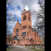 Berlin - Spandau, Lutherkirche, Außenansicht der Kirche