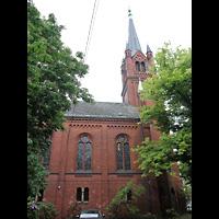 Berlin - Neukölln, Magdalenenkirche, Außenansicht der Kirche