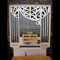 Berlin - Tempelhof, Kirchsaal im Margarete-Draeger-Haus, Orgel