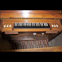 Berlin - Kreuzberg, Melanchthonkirche (Voss-Orgel), Spieltisch der Voss-Orgel