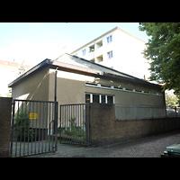 Berlin - Neukölln, Pauluskirche (SELK), Außenansicht von hinten