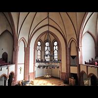 Berlin - Tiergarten, Reformationskirche (REFO Kirche) Moabit, Hauptorgel, Blick von der Orgelempore in die Kirche