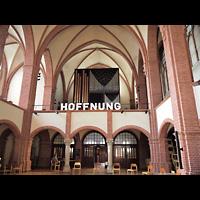 Berlin - Tiergarten, Reformationskirche (REFO Kirche) Moabit, Hauptorgel, Innenraum in Richtung Hauptorgel