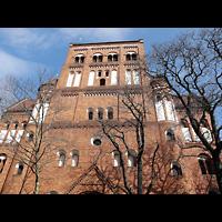 Berlin - Steglitz, Rosenkranz-Basilika, Außenansicht der Kirche