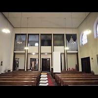 Berlin (Mitte), St. Adalbert, Innenraum in Richtung Orgel