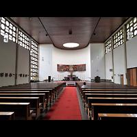 Berlin (Wedding), St. Aloysius, Innenraum in Richtung Altar