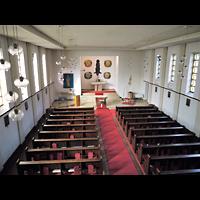 Berlin - Treptow, St. Anna, Blick von der Orgelempore in die Kirche