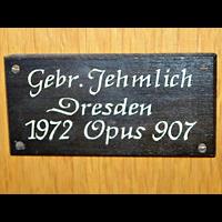 Berlin - Treptow, St. Anna, Erbauerschild