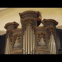 Berlin - Zehlendorf, St. Annen-Kirche (evang. Friedhofskirche), Dorfkirche Dahlem, Orgel-Detail