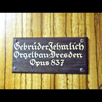 Berlin - Friedrichshain, St. Antonius, Erbauerschild