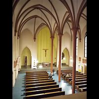 Berlin (Neukölln), St. Clara, Blick von der Orgelempore in die Kirche
