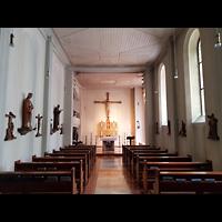 Berlin - Charlottenburg, St. Franziskus-Krankenhaus, Kapelle, Innenraum in Richtung Altar