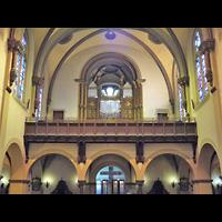 Berlin - Neukölln, St.-Johannes-Basilika, Innenraum in Richtung Orgel