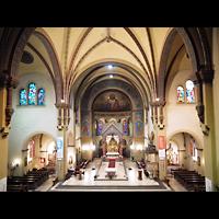 Berlin - Neukölln, St.-Johannes-Basilika, Blick von der Orgelempore in die Kirche