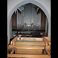 Berlin - Pankow, St. Johannes Evangelist Buchholz, Orgel mit offenem Spieltisch