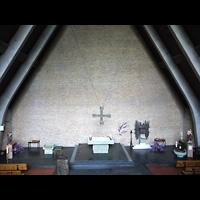 Berlin - Neukölln, St. Joseph Rudow, Blick von der Orgelempore in die Kirche