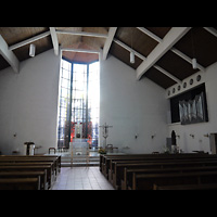 Berlin - Wilmersdorf, St. Karl Borromäus, Innenraum mit neuer Orgel