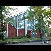 Berlin - Wilmersdorf, St. Karl Borromäus, Außenansicht der Kirche