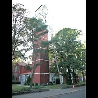 Berlin - Wilmersdorf, St. Karl Borromäus, AUßenansicht mit Turm