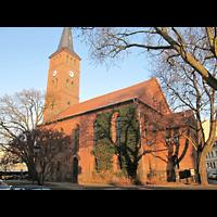 Berlin - Köpenick, Ev. Stadtkirche St. Laurentius (Positiv), Außenansicht der Kirche