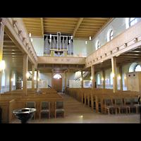 Berlin - Köpenick, Ev. Stadtkirche St. Laurentius (Positiv), Innenraum in Richtung Orgel