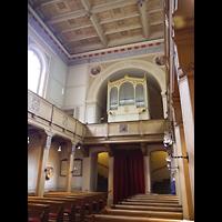 Berlin (Zehlendorf), St. Peter und Paul auf Nikolskoe (Wannsee), Innenraum in Richtung Orgel