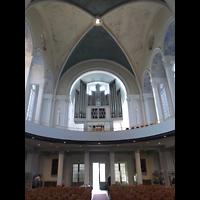 Berlin (Kreuzberg), St. Thomas (ev.) - Hauptorgel, Innenraum in Richtung Orgel