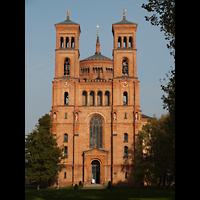 Berlin (Kreuzberg), St. Thomas (ev.) - Hauptorgel, Doppepturmfassade