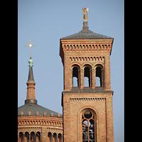 Berlin (Kreuzberg), St. Thomas (ev.) - Hauptorgel, Turm- Detail