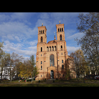 Berlin (Kreuzberg), St. Thomas (ev.) - Hauptorgel, Außenansicht der Kirche