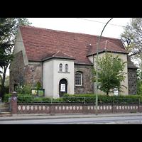 Berlin - Lichtenberg, Taborkirche Hohenschönhausen (Hauptorgel), Außenansicht der Kirche