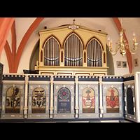 Berlin - Lichtenberg, Taborkirche Hohenschönhausen (Hauptorgel), Orgel mit Emporenbrüstung