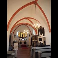 Berlin - Lichtenberg, Taborkirche Hohenschönhausen (Hauptorgel), Altarraum mit Positiv